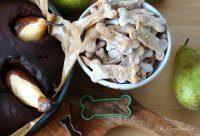 ciastka dla psa tunczykowe i ciasto murzynek z gruszkami dla opiekunow