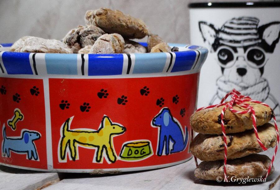 psie ciastka z zurawina
