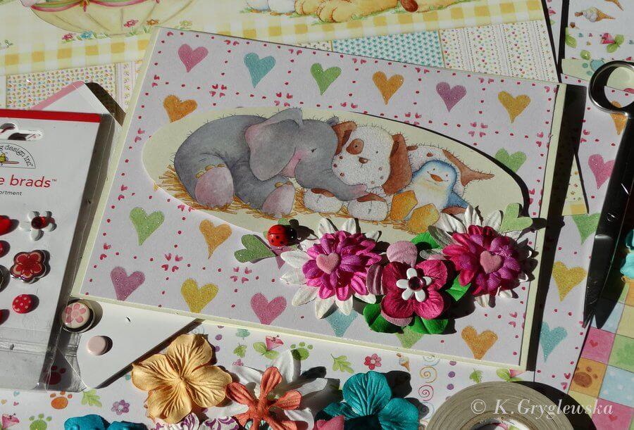 Kartka dla dziecka cardmaking